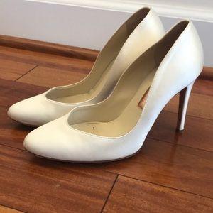 White Crepe Wedding Heels, Rupert Sanderson